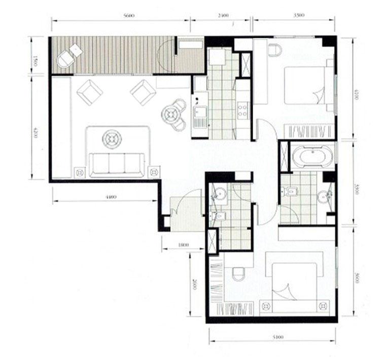 Legend-Saladaeng-2br-rent-0119---layout